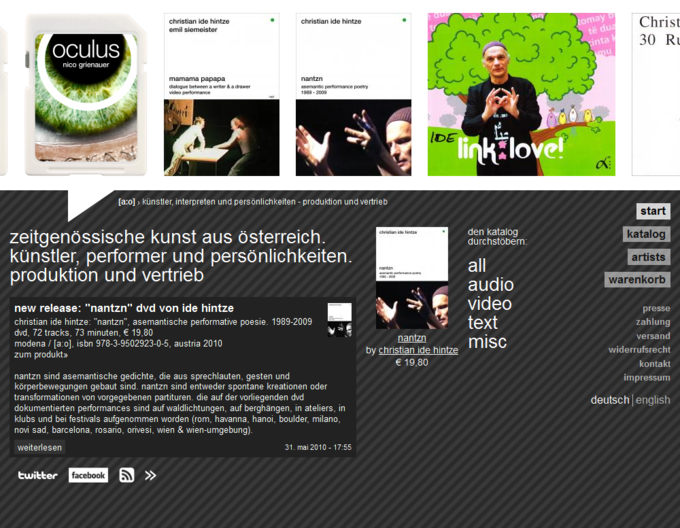screenshot acolono website - Frontpage