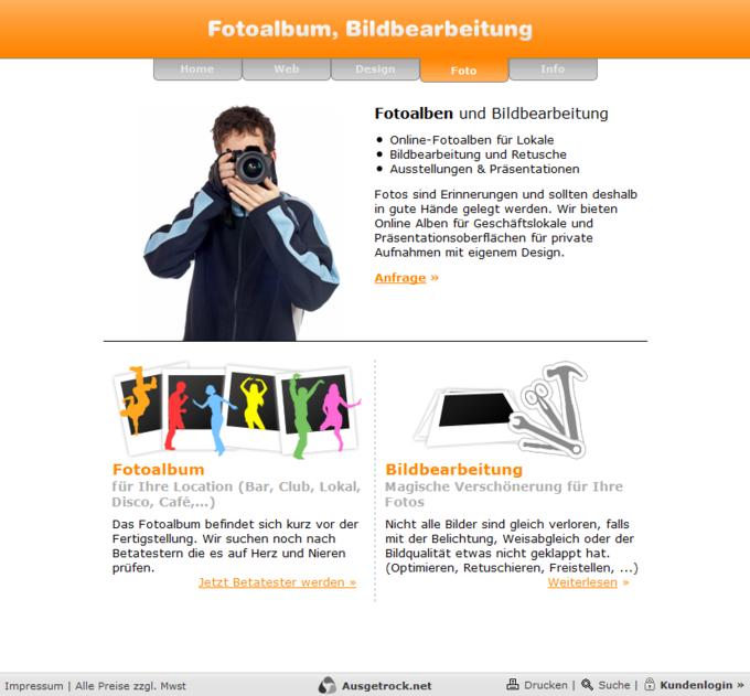 Screenshot Ausgetrock.net Foto