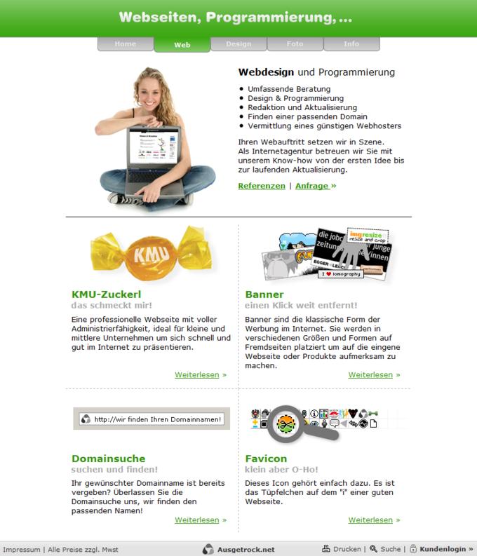 Screenshot Ausgetrock.net Web