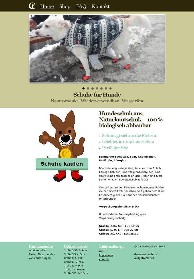 Canine Footwear Homepage