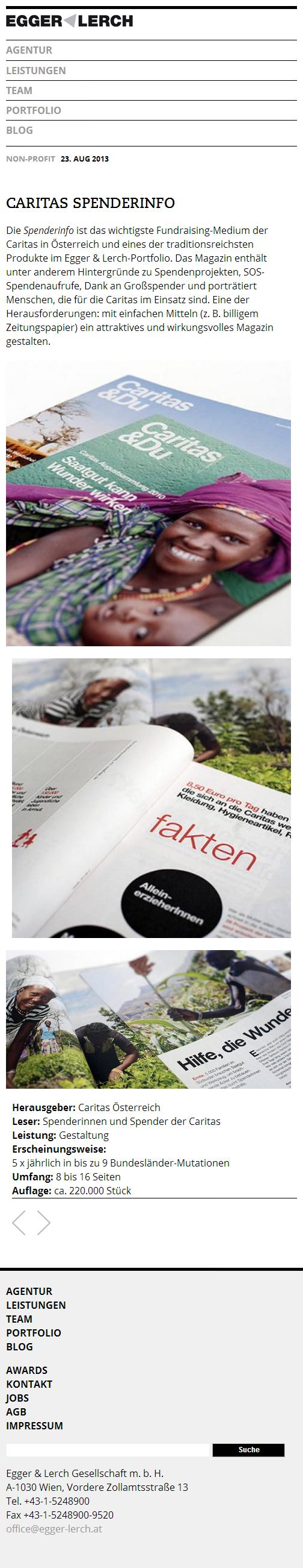 Egger & Lerch - Corporate Publishing - Mobile Screenshot Magazine Details