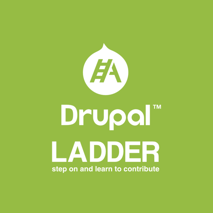Drupal Ladder Logo WHITE