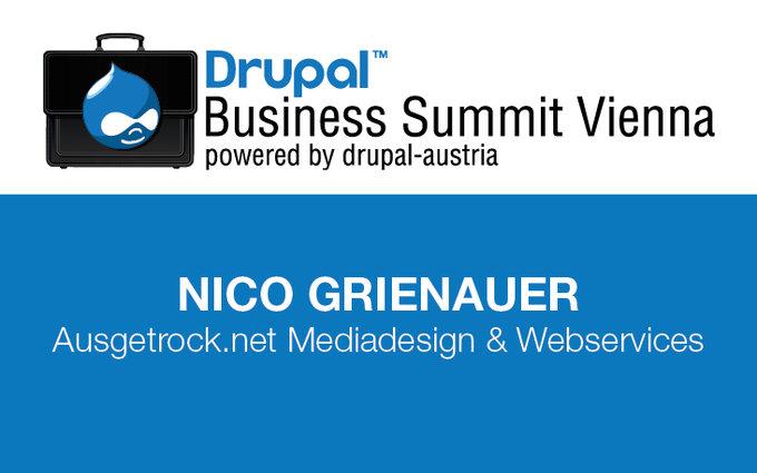 Drupal Business Summit Vienna Badge