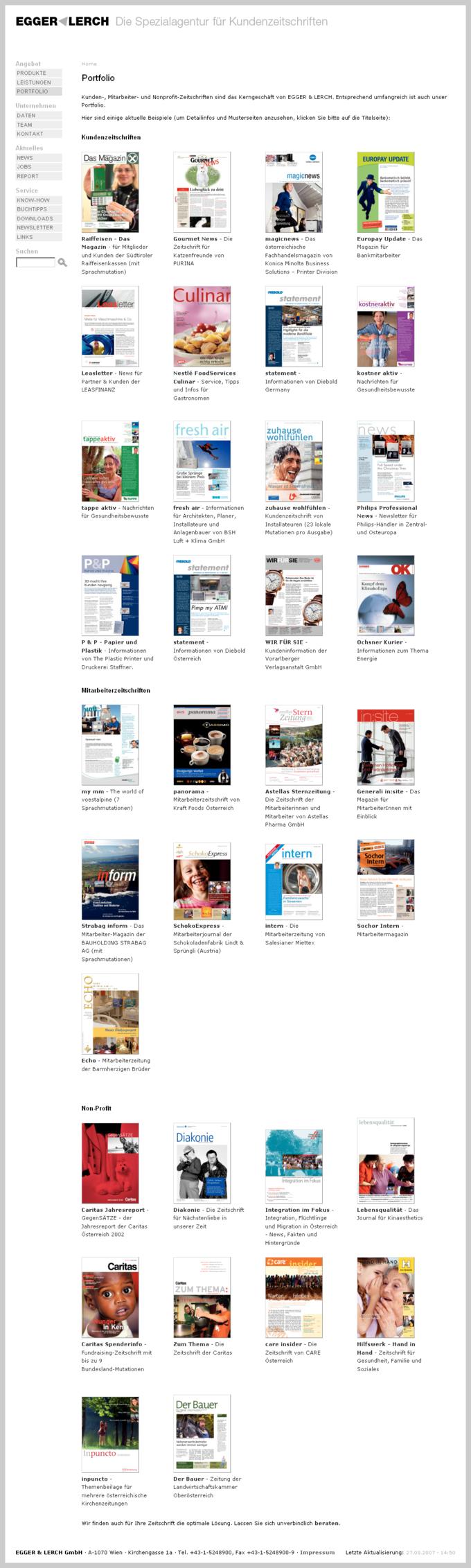 Screenshot Egger Lerch Website Portfolio