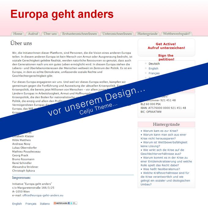 Europa geht anders! - Screenshot OLD Design