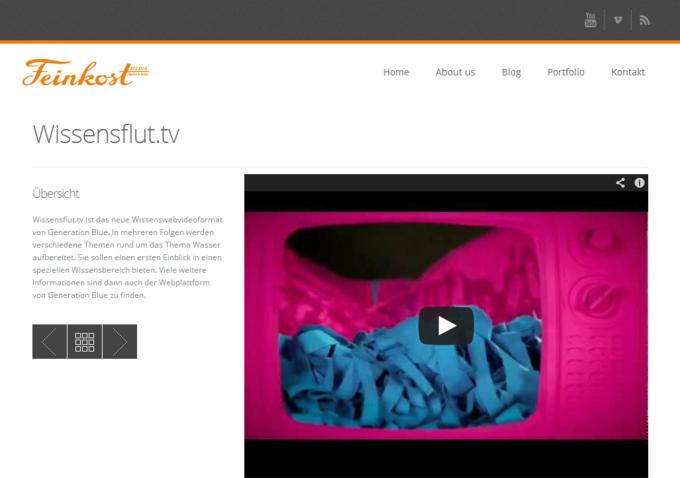 FeinkostMEDIA Website Screenshot - Portfolio Detail View