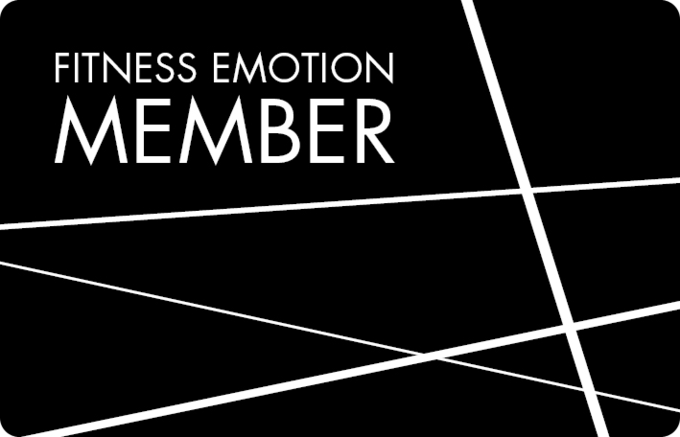 Fitness Emotion Member Card Vorderseite Schwarz
