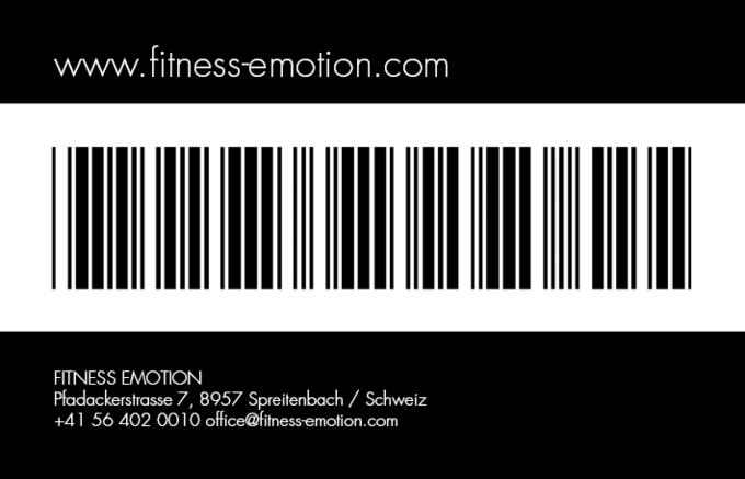 Fitness Emotion Member Card Rüchseite Schwarz