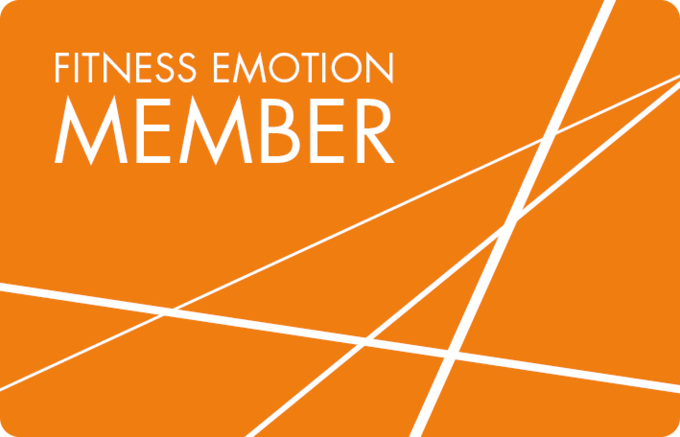 Fitness Emotion Member Card Vorderseite Orange