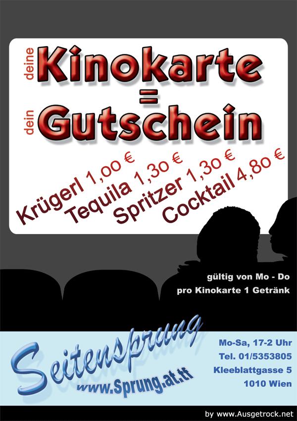 Flyer Seitensprung Kino-Aktion Vorderseite