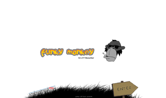 screenshot funky monkey website - intro
