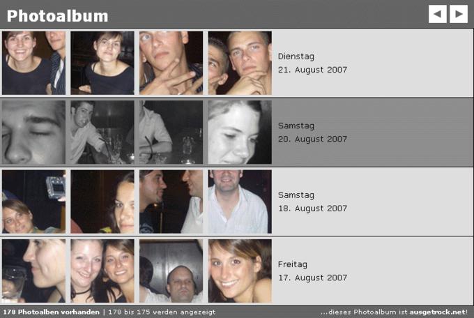 screenshot funky monkey website - Fotoalben