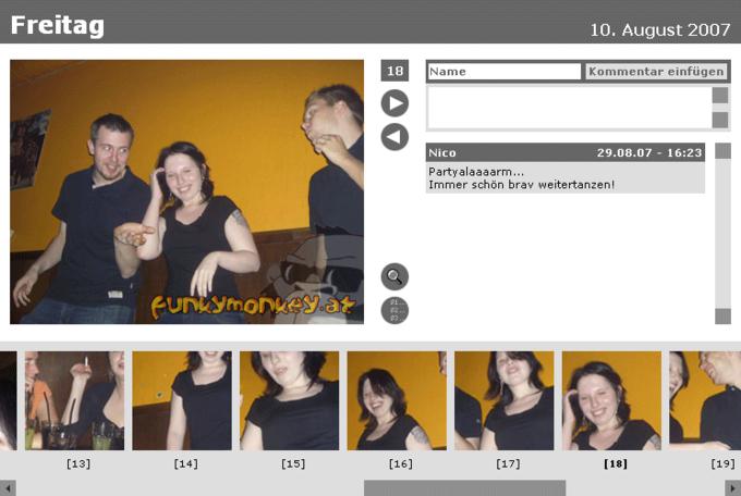 screenshot funky monkey website - Fotoalbum