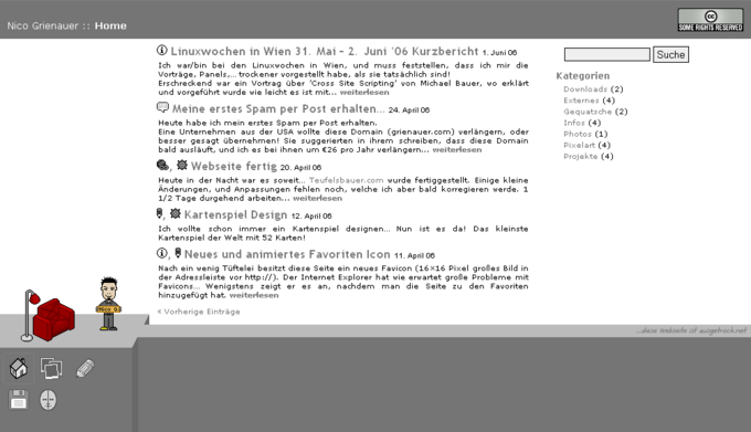 Screenshot website grienauer - Startseite
