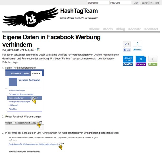 Screenshot Hash Tag Team Website - Blog