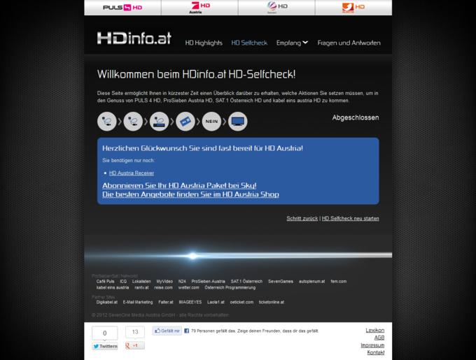 Screenshot HDinfo.at HD-Selfcheck Erbebniss