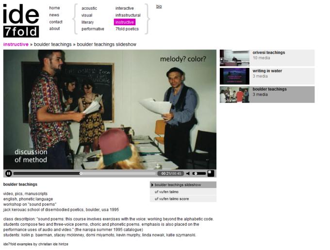 screenshot ide7fold website - instructive