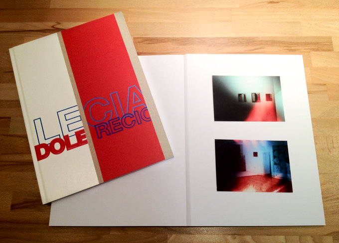 Coveransicht des Sezession Kataloges von Lecia Dole-Recio und angehafteten Fotos