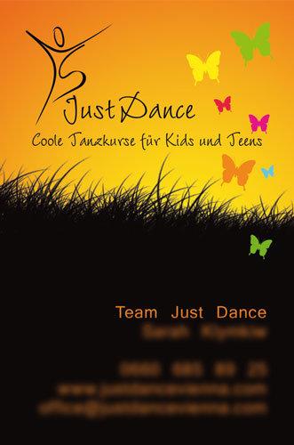Just Dance Visitenkarte Vorderseite
