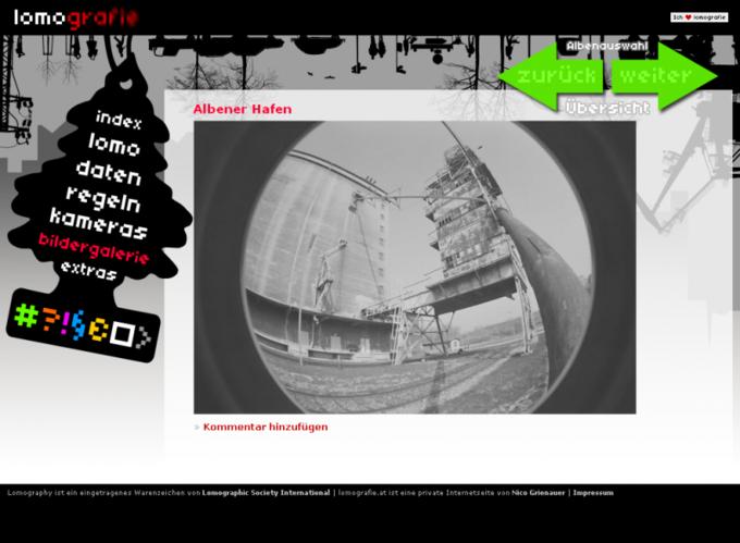 Screenshot Website Lomografie - Single Lomo Picture