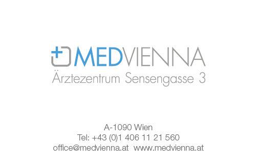 Medvienna Visitenkarte Rückseite