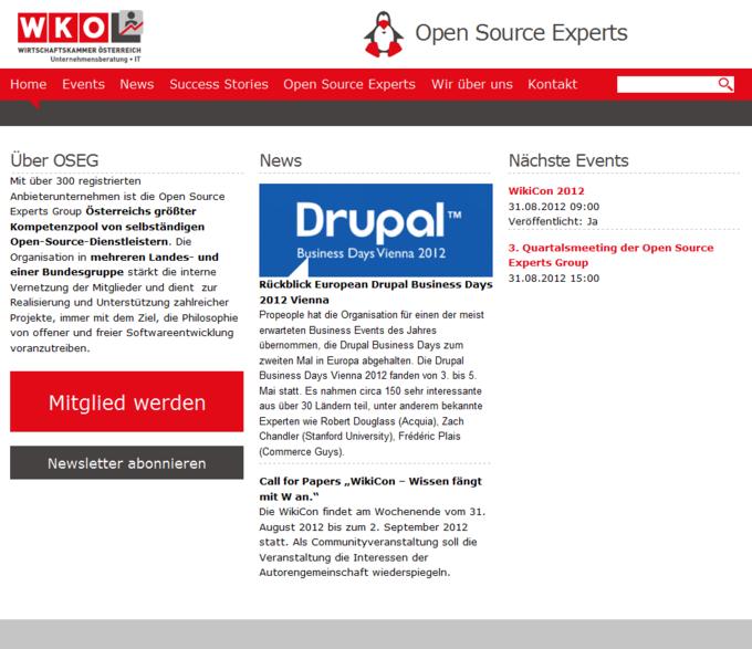 Open Source Experts Group - Screenshot - Open Source Experten aus Österreich