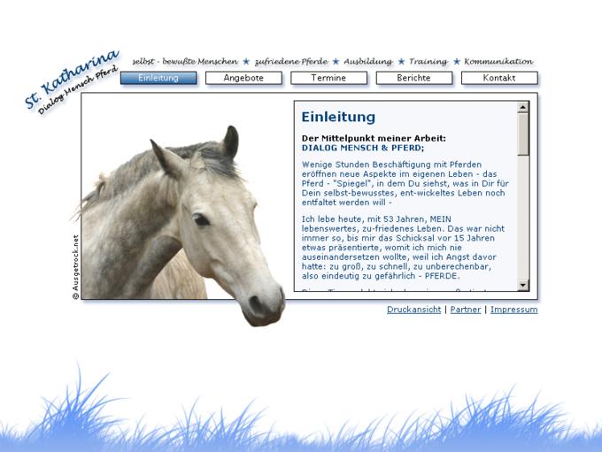 screenshot St. Katharina - Startseite