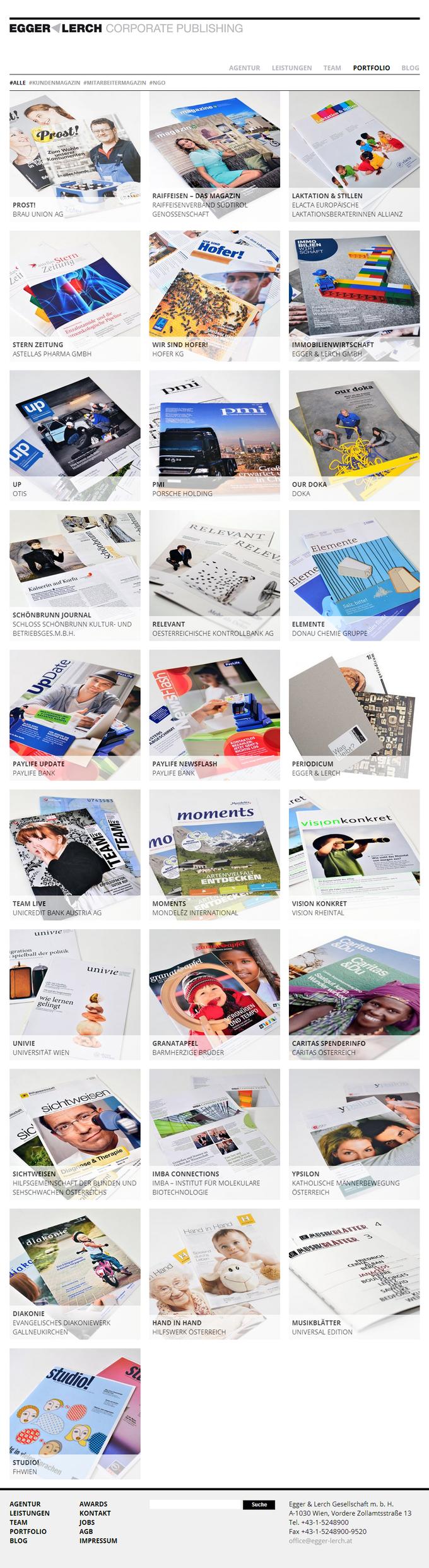 Egger & Lerch - Corporate Publishing - Portfolio Screenshot
