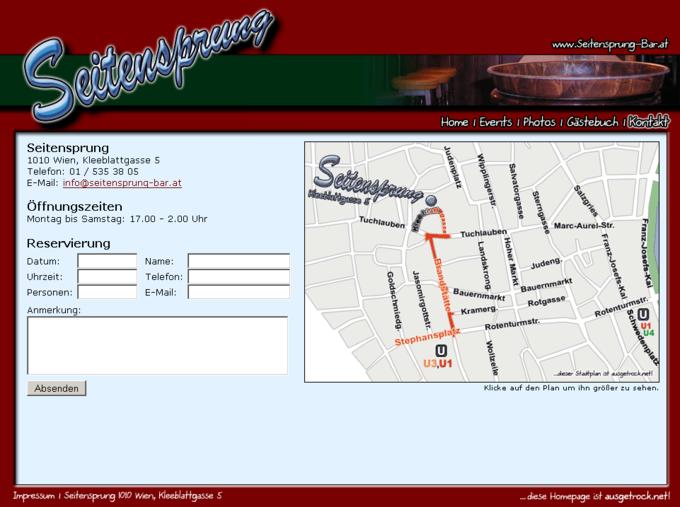 Screenshot Seitensprung Webseite - Bestellung