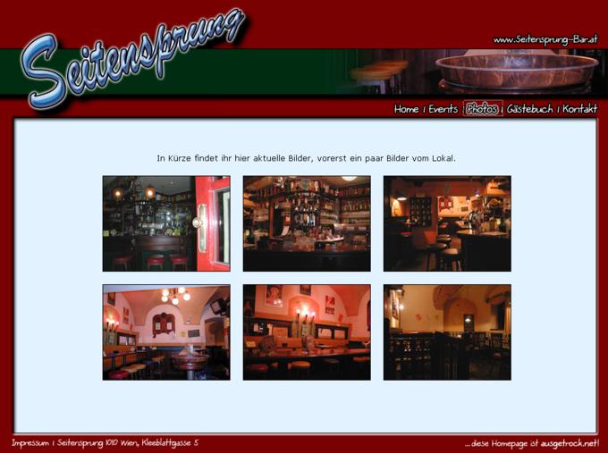 Screenshot Seitensprung Webseite - Bilder