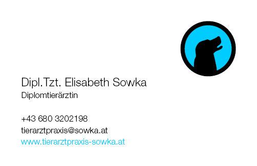 Tierarztpraxis Sowka Visitenkarte Vorderseite - Hund