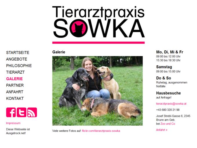 Screenshot Tierarztpraxis Sowka Galerie