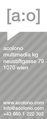 acolono Visitenkarte Vorderseite - Grau