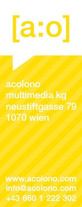 acolono Visitenkarte Vorderseite - Gelb