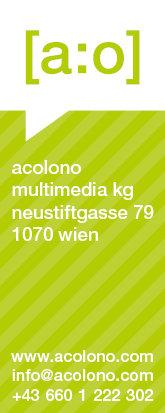 acolono Visitenkarte Vorderseite - Grün