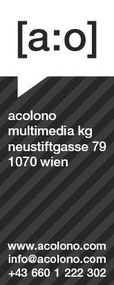 acolono Visitenkarte Vorderseite - Schwarz