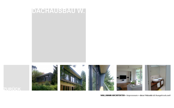 Screenshot Wallmann Architekt Website - Übersicht Projekt