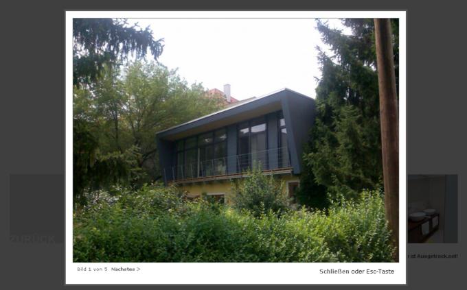 Screenshot Wallmann Architekt Website - Bildansicht