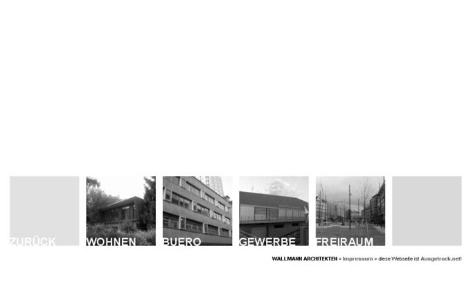 Screenshot Wallmann Architekt Website - Projektkategorien