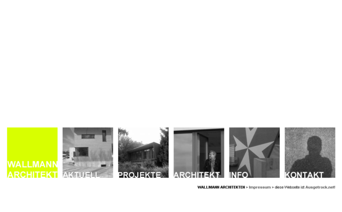 Screenshot Wallmann Architekt Website - Startseite
