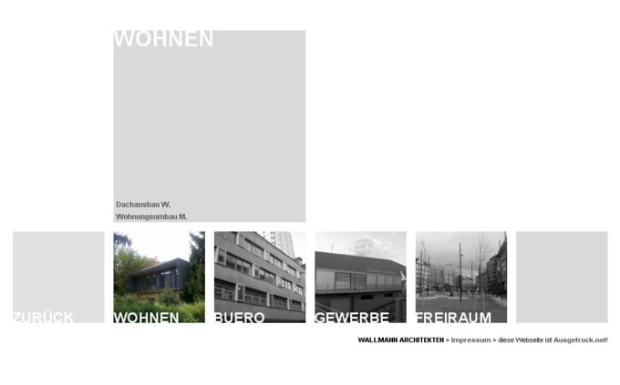 Screenshot Wallmann Architekt Website - Projekt Wohnen