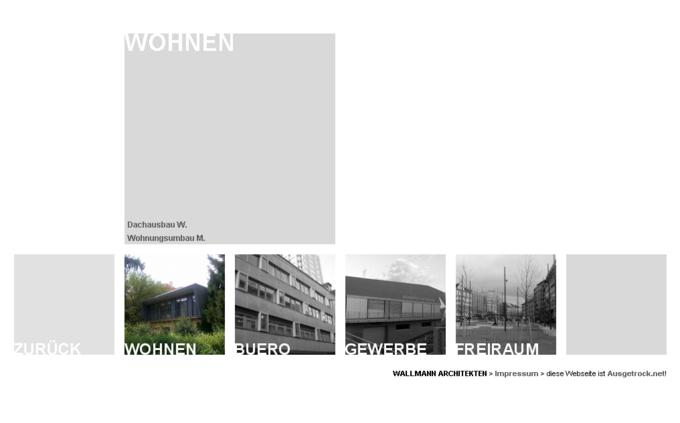 Screenshot Wallmann Architekt Website - Projekt Wohnen