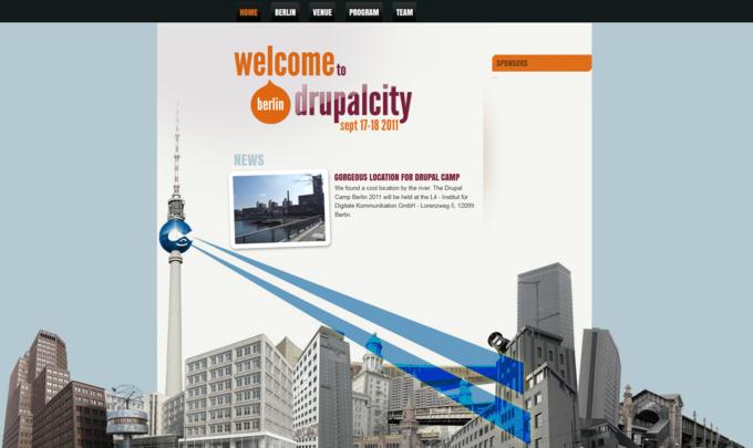 screenshot drupal camp berlin website