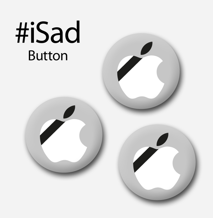 Steve Jobs iSad Buttons